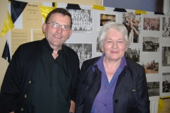 Brother Cusack, Principal of Sullivan's Quay CBS and Patricia O'Rourke, Principal of South Pres, at the 2006 Historical Exhibition. Sadly for the South Parish, both schools closed that year.