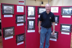 Michael Lenihan with his exhibit at the 2006 Historical Exhibition.