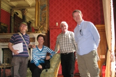 At Bantry House in 2008. Richard T. Cooke, Maureen Holland, Mick Murphy and Dermot Houston.