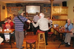 Richard T. Cooke and Mick Murphy providing the after dinner entertainment at Inishannon House in 2008.