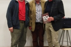 Ronnie Herlihy, guest speaker Kieran Groeger and Red FM's Neil Prendeville at the inaugural meeting of the 2019/2020 season in St John's College.