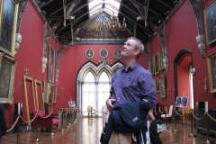 Dermot Houston taking in the splendour of Kilkenny Castle in 2010.