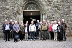 Members of the Society at St Mary's Collegiate Church in Youghal in 2019.