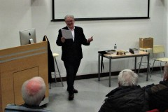 Guest speaker Cónal Creedon in full flow at our meeting on 4 March 2020..