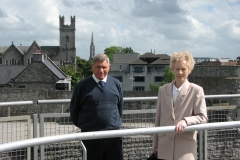 David and Sheila O'Flaherty RIP at King John's Castle, Limerick, during our visit in 2014.