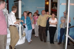 Members of the Society listening to our guide Eamon McEneaney during a visit to the Waterford Treasures Museum in 2006.