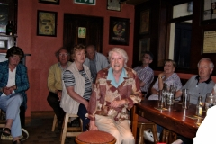 Having a sing-song at the Marine bar outside Dungarvan in 2006.