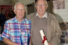 First prize for Best Stand at the 2018 Lord Mayor's Community Heritage Exhibition. Image shows our Chairperson Gene Healy, left, and PRO Liam O'hUigín. Photo copyright Martin Collins.