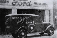 A Thompson's Bakery van outside the CAB Motors garage on Copley Street in 1937. Image from the Cork Examiner.