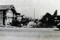 The removal of the old Corn Market gates on Anglesea Street in 1984 allowed for a new road to be built, later called Old Station Road, to connect Anglesea Street with the new South Link Road under construction at the time. Image from the Evening Echo.