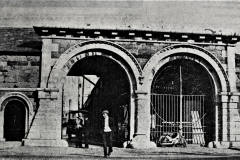 The old Corn Market gates on Anglesea Street in 1968. Image from the Evening Echo.