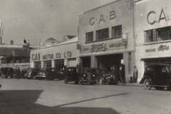CAB Motors garage on Copley Street in 1945. Today the site is mainly occupied by the multi-storey car park. Image courtesy of CAB Motor Company, Monahan Road, Cork.