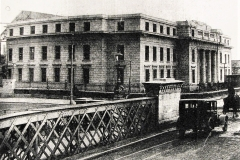 The view from Parnell Bridge of the present City Hall under construction in 1934. Image from the Cork Examiner.