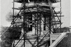 The Clock Tower of the present City Hall being erected in 1935. Image from the Cork Examiner.