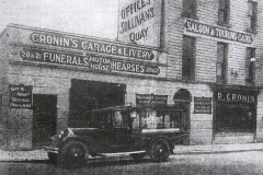 Cronin's premises in 1930. It was located on Sullivan's Quay, at the corner of Meade Street. Image from the Cork Examiner.