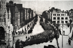 Military parade, Easter 1955 on the South Mall. Image from the Cork Examiner.