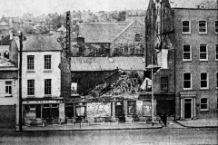 Demolition of buildings on George's Quay in 1973 where Abbey Court House would later be built. Image from the Evening Echo.