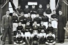 Sully's Quay CBS U13 football team 1936 winners of the O'Connell Cup in the Sciath na Scol with teacher Séamas Ó Riain. Courtesy of Colm Ó Riain.